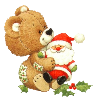 christmas bear with santa toy transparent png clipart. Black Bedroom Furniture Sets. Home Design Ideas