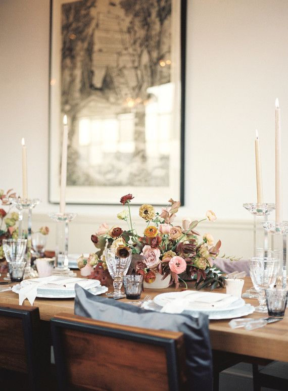Wedding Dinner Party Ideas Part - 36: Fall Dinner Party Ideas From The Wedding Artists Collective
