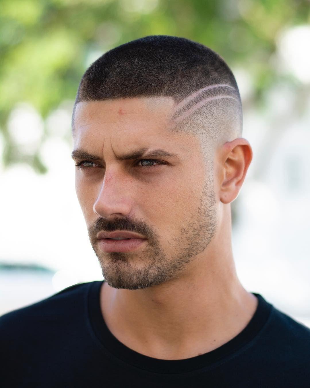Line Through Eyebrow Men