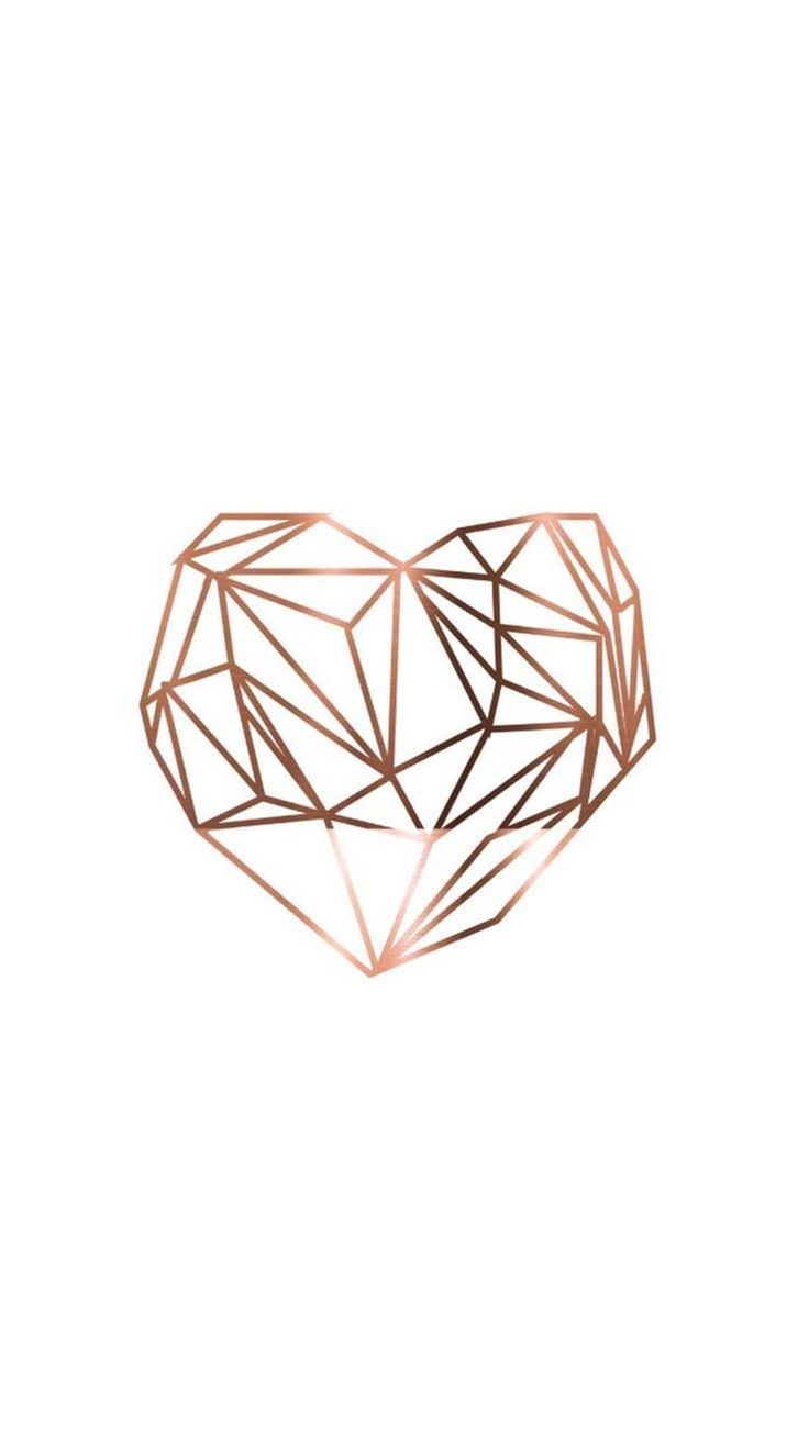 Pin By Get Inspired On Rose Gold Iphone Wallpaper Iphone Background Geometric Heart