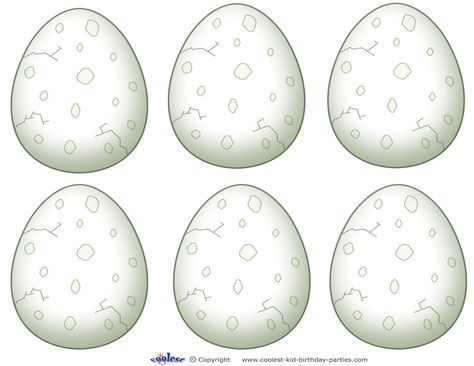 Blank Printable Dinosaur Egg Thank You Cards Coolest Free Printables