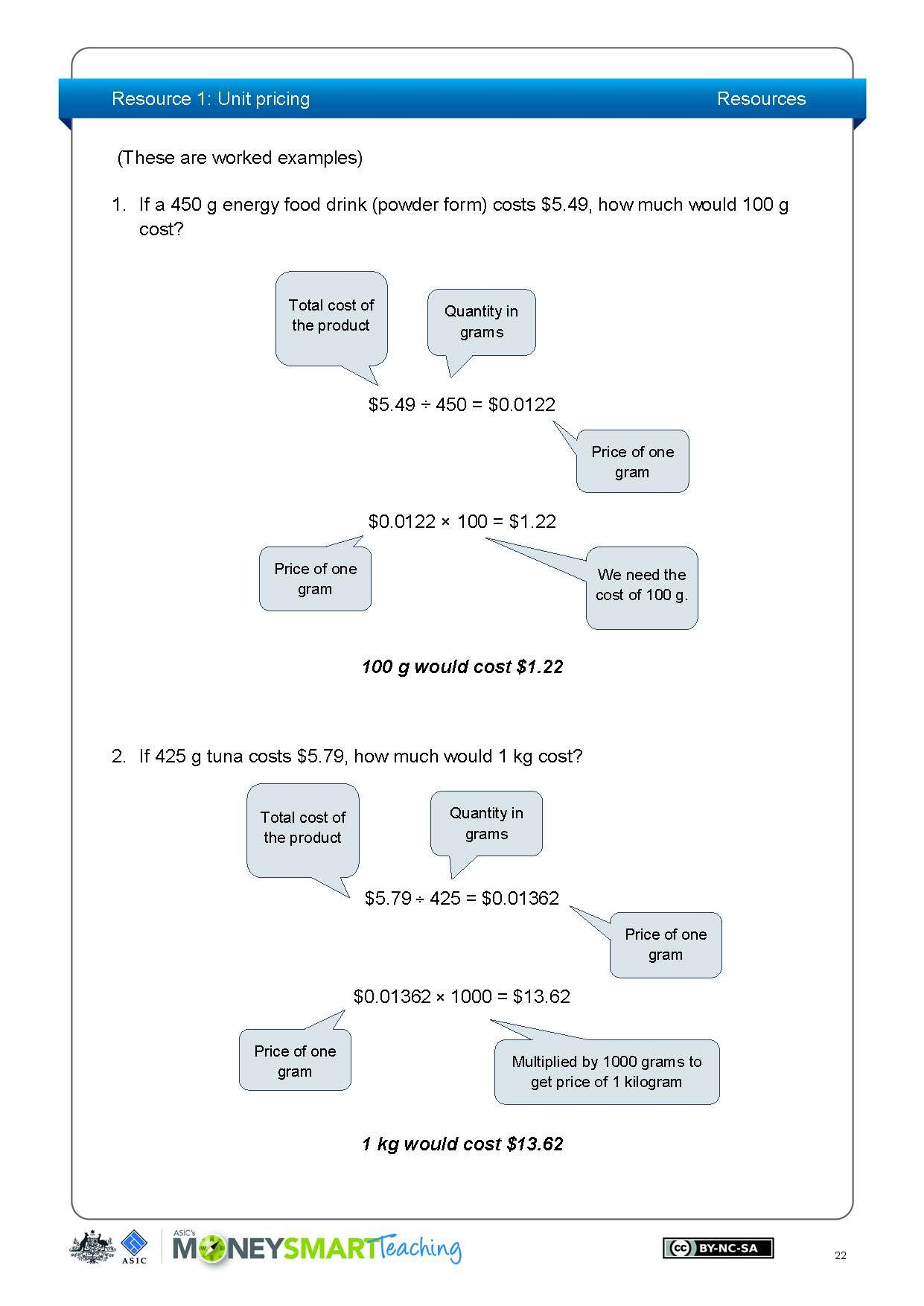 Year 7 Maths Spending Resources And Worksheets