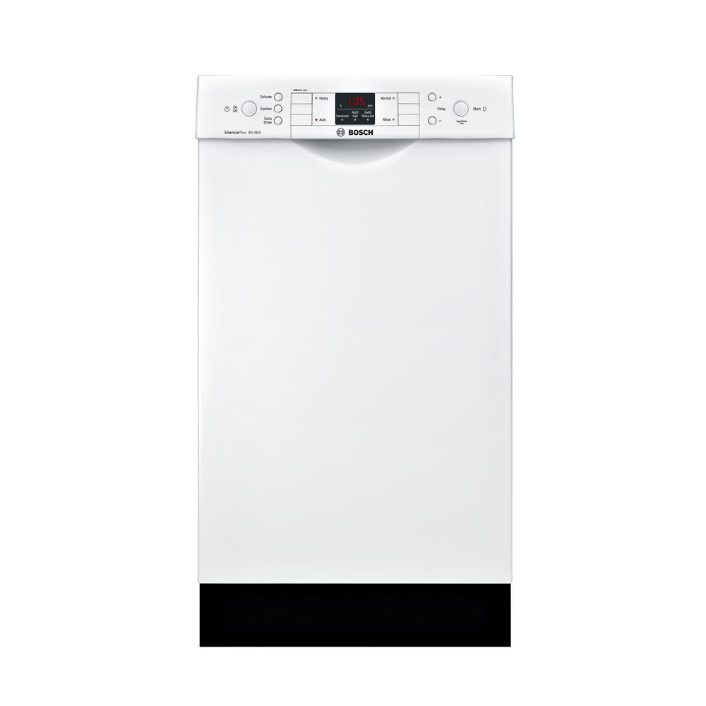 Bosch 300 Series 18 In Compact Front Control Tall Tub Dishwasher