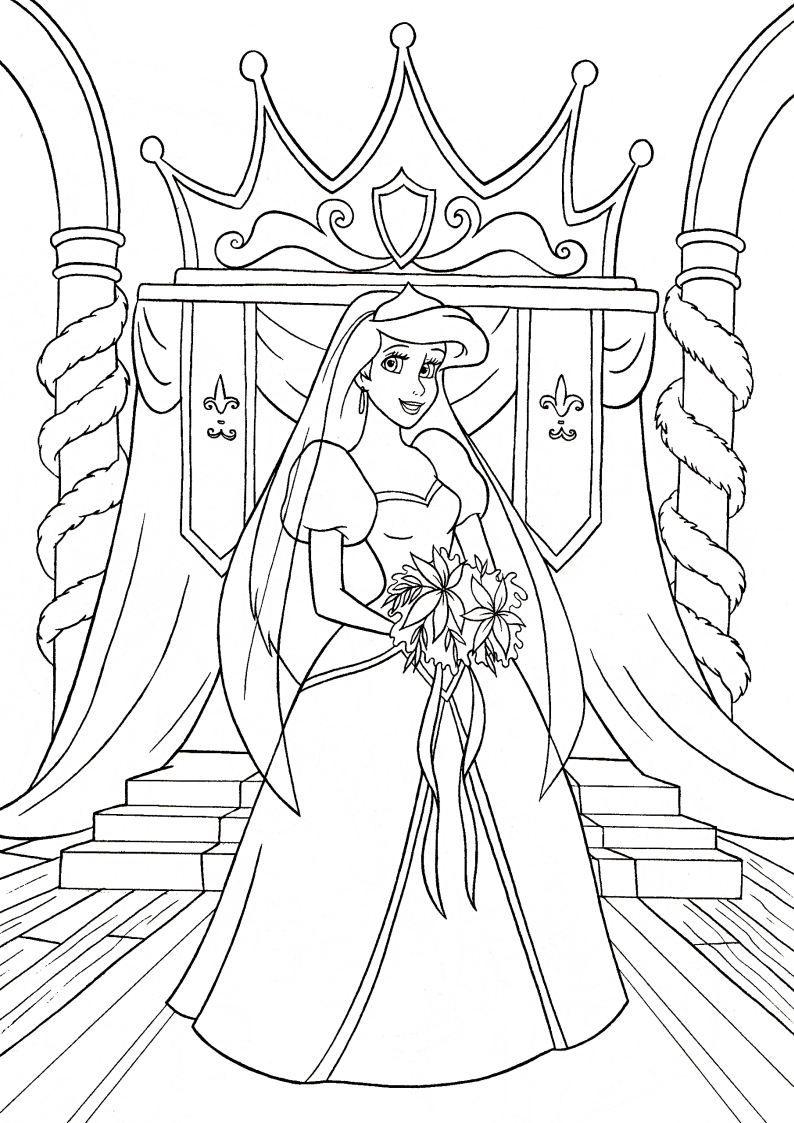 Obrazek Ksiezniczka Ariel Z Bajki Disney Mala Syrenka Nr 26 Ariel Coloring Pages Princess Coloring Pages Disney Princess Coloring Pages