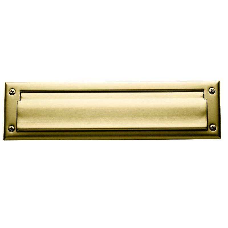 Baldwin 0012 Polished Brass Brass Letter Box Cover