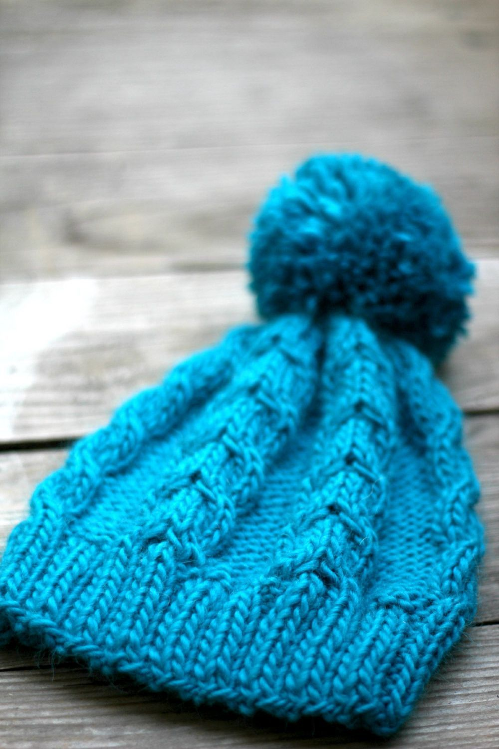 This knit beanie hat is really cozy, warm and stylish! It is perfect for #fall and winter. The hat is very soft and stretchy so it fits most sizes. The yarn is very soft - i... #kgthreads #fashion #gift #knitting #turquoise