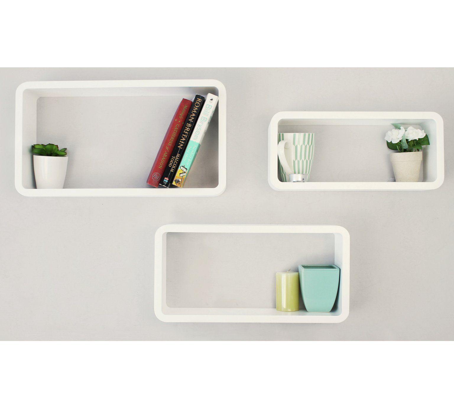 Buy HOME Set of 3 Cubes - White at Argos.co.uk, visit Argos.co.uk to ...