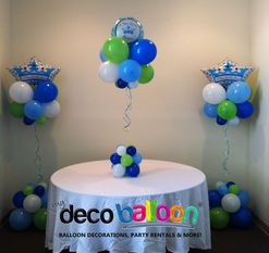 Lil Prince Baby Shower Decorations | Balloon Decoration, My Deco Balloon  Balloon Centerpieces 2