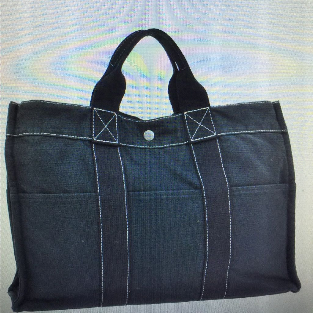 Hermes Fourre Tout Mm Hand Bag Tote Black