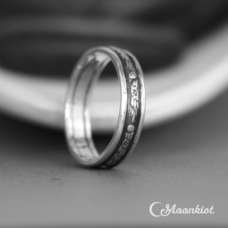Celestial Wedding Band Sterling Silver Mens Wedding Band Sterling Silver Mens Wedding Bands Space Wedding Ring Star Wedding Band