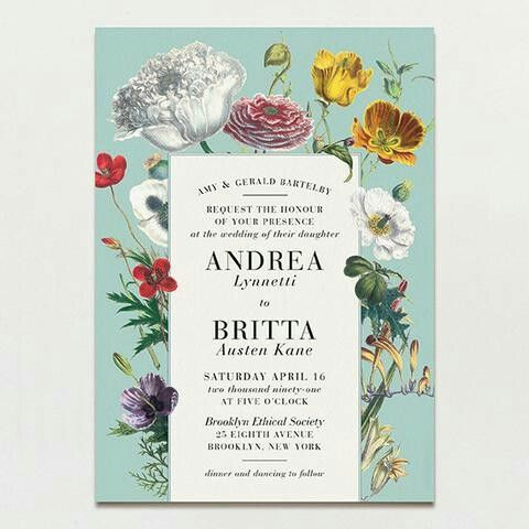 Pin by sobia khalid on Invites | Botanical wedding