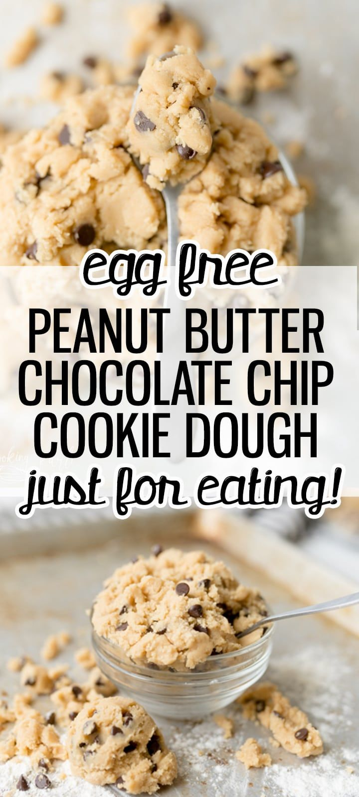 Edible Peanut Butter Chocolate Chip Cookie Dough - Cooking With Karli
