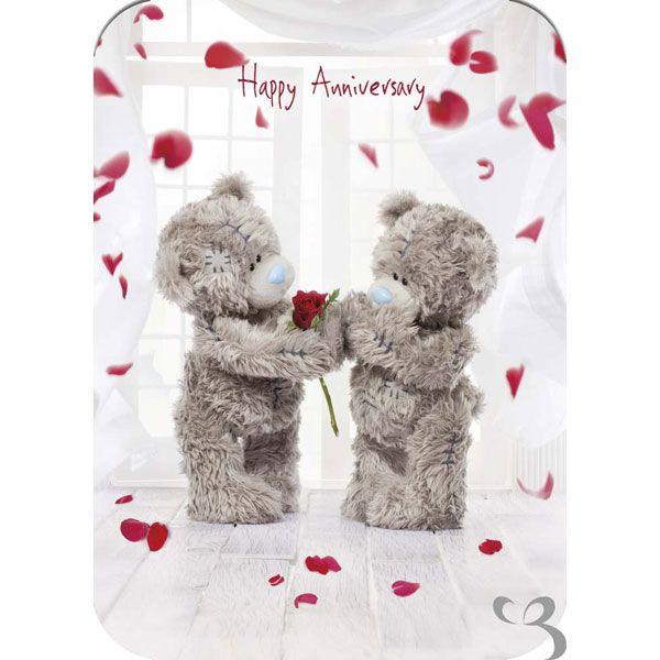 Greeting Card Happy Anniversary Tatty Teddy Teddy Bear Teddy Toys