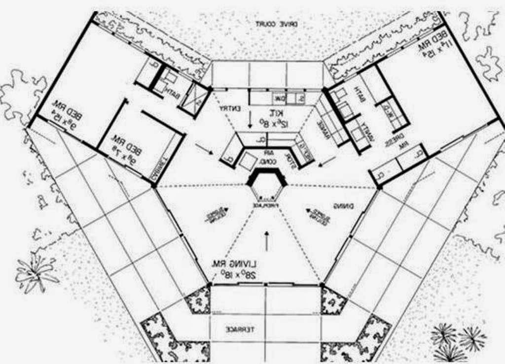 dream house bio octagon earth ship style plans home with center ...