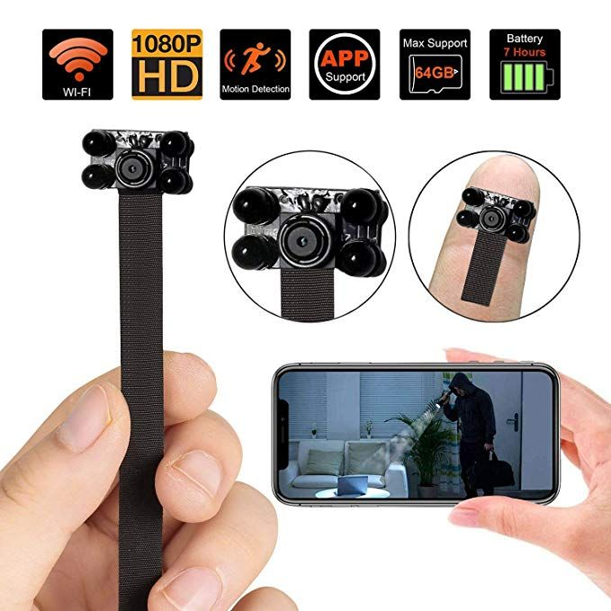 Spy Camera Mini WiFi Hidden Camera, Baby Monitor,1080P