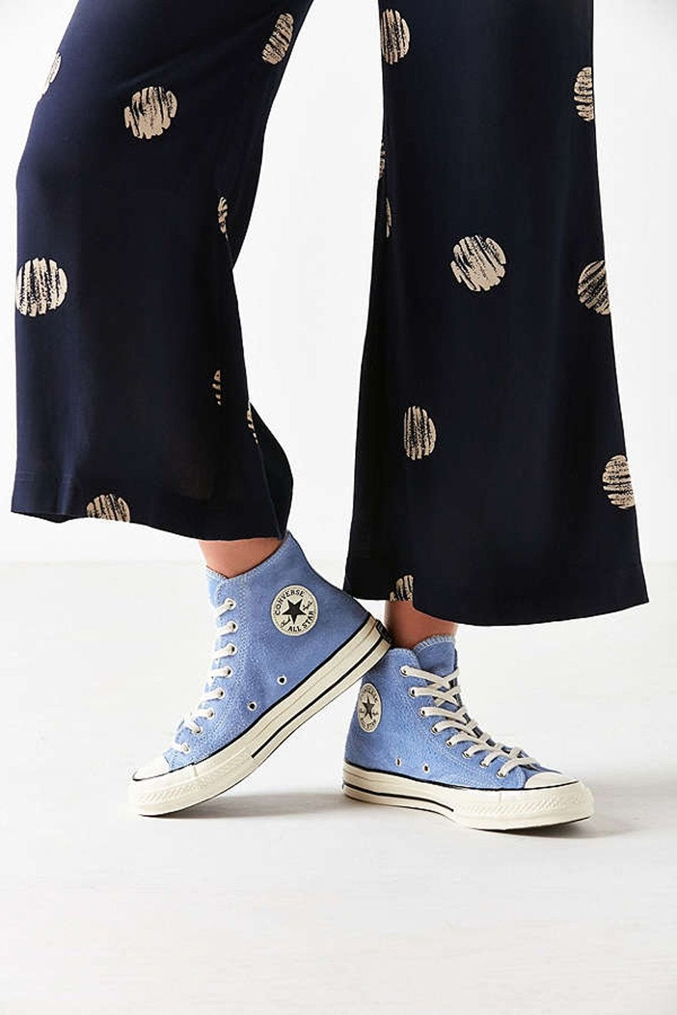 Baby Blue Suede Covers the Converse