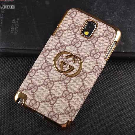 5cd81edcd95 Gucci Galaxy Note 3 Case Designer Leather Cover Beige  NoteCase-0125  -   23.80