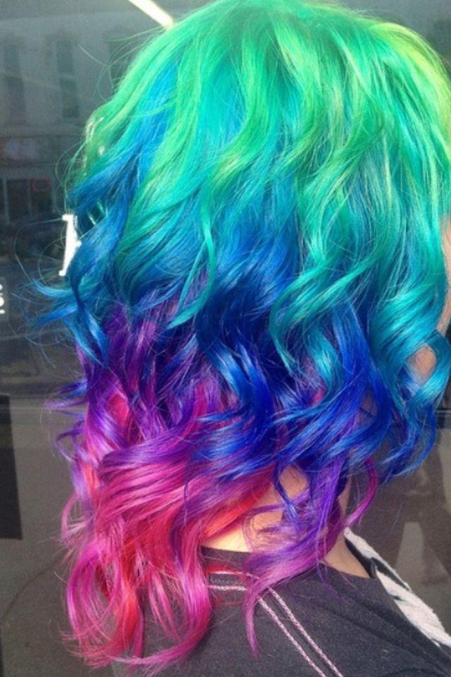 cute rainbow hair cool