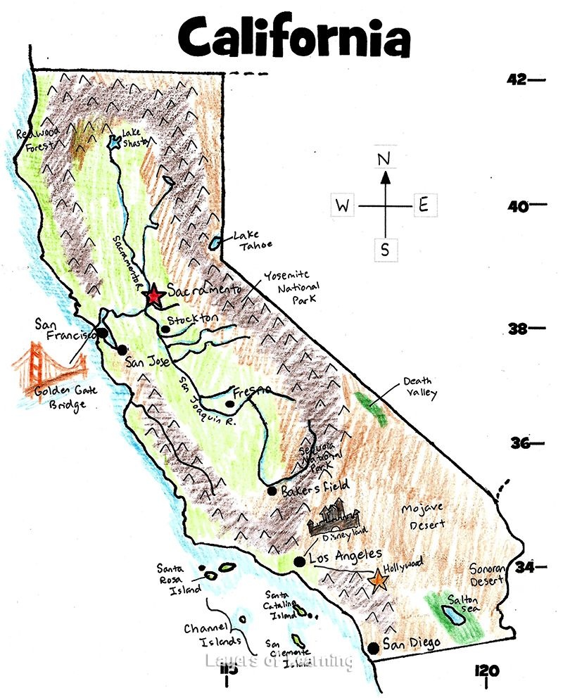 Death Valley Elevation Map.California State Study California History Pinterest California