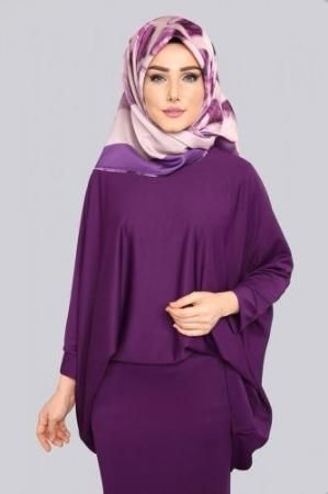Shirt Blouse 2 Combined MDP5026 Light Purple