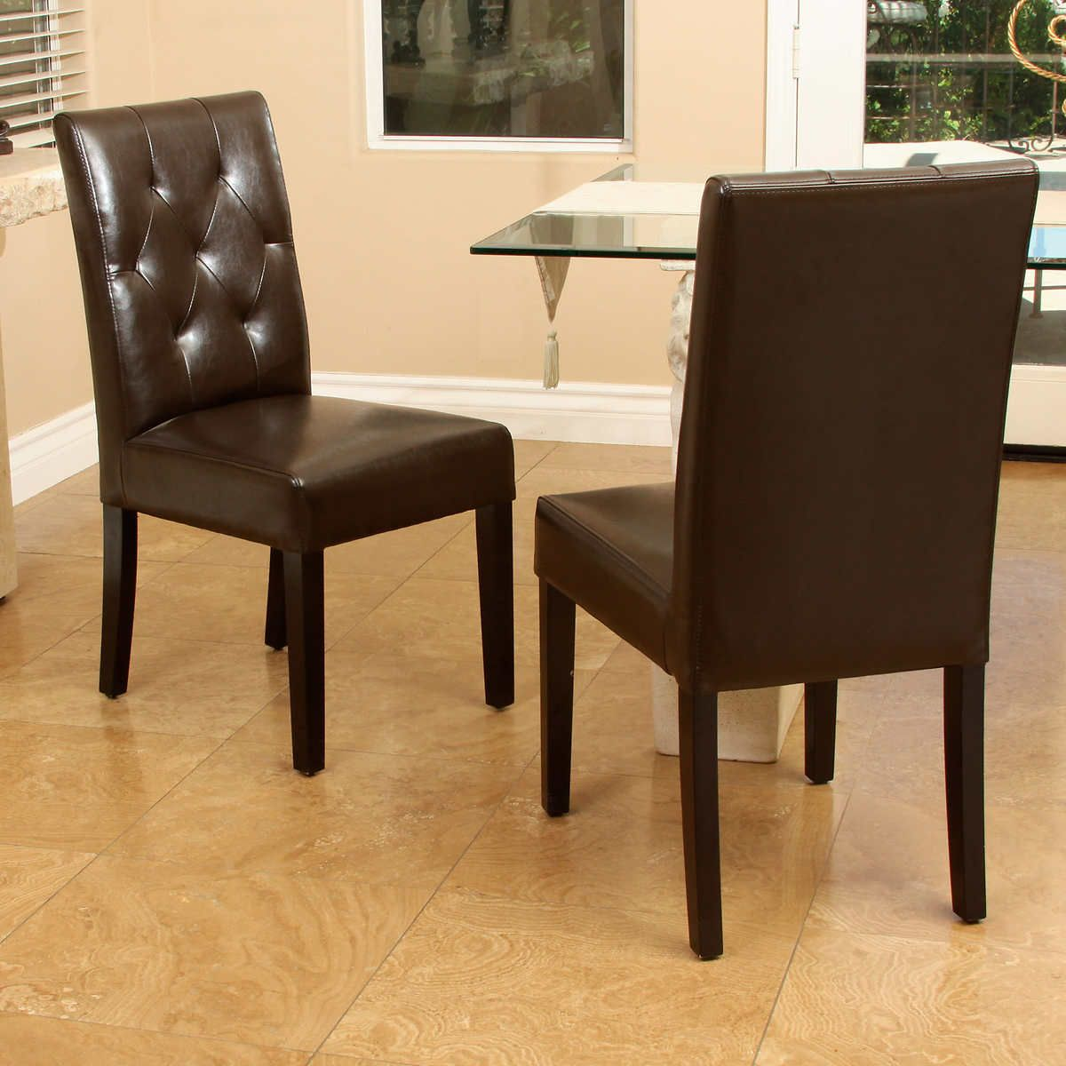 Angelo Dining Chair 2 Pack Bonded Leather