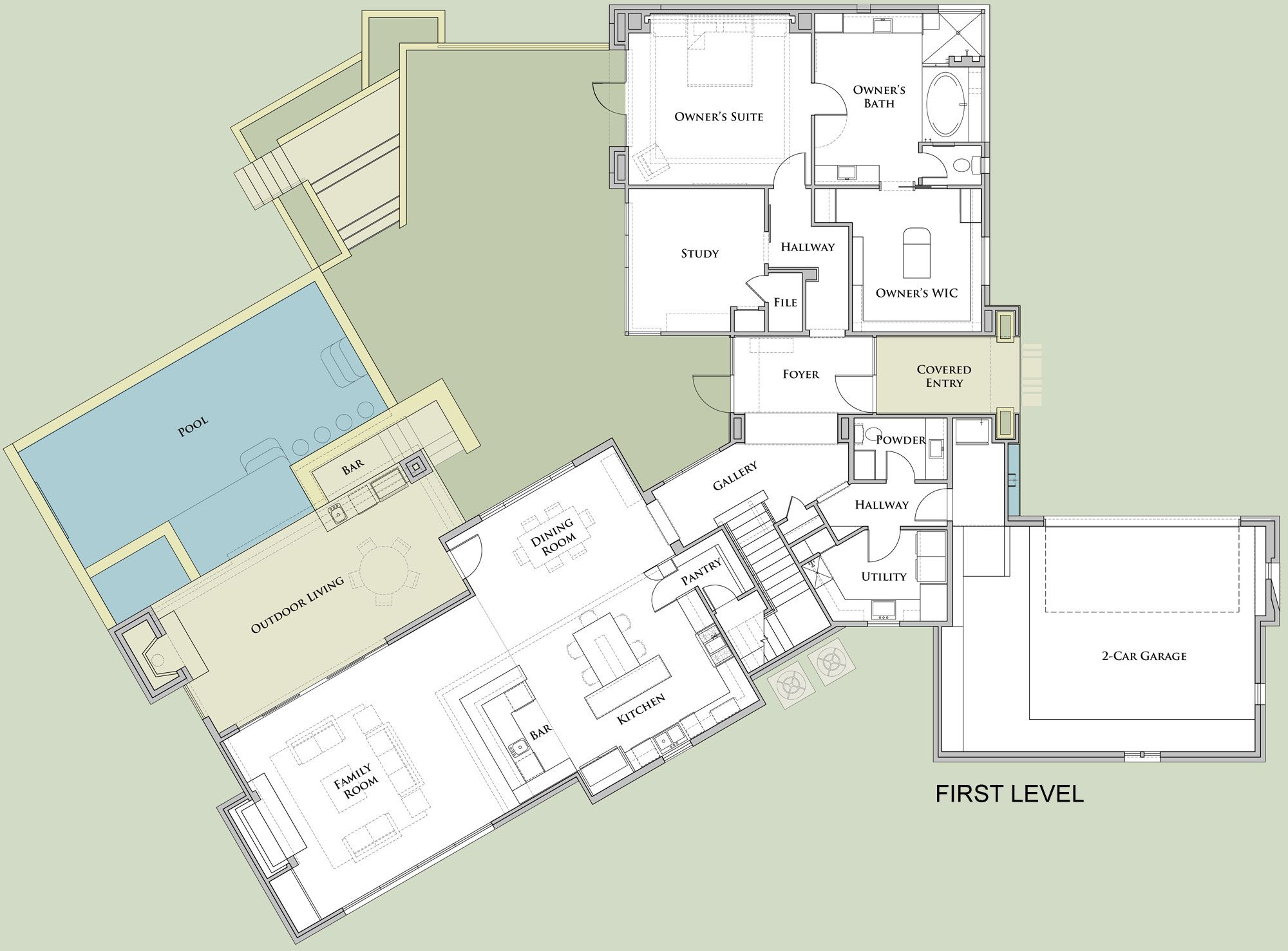 Ridgewood Residence By Cornerstone Architects Ridgewood Floor Plans House Design