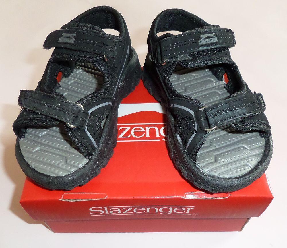 Black sandals for toddler boy - Uk Infant Size 5 Boys Baby Toddler Shoes Black Slazenger Wave Sandals