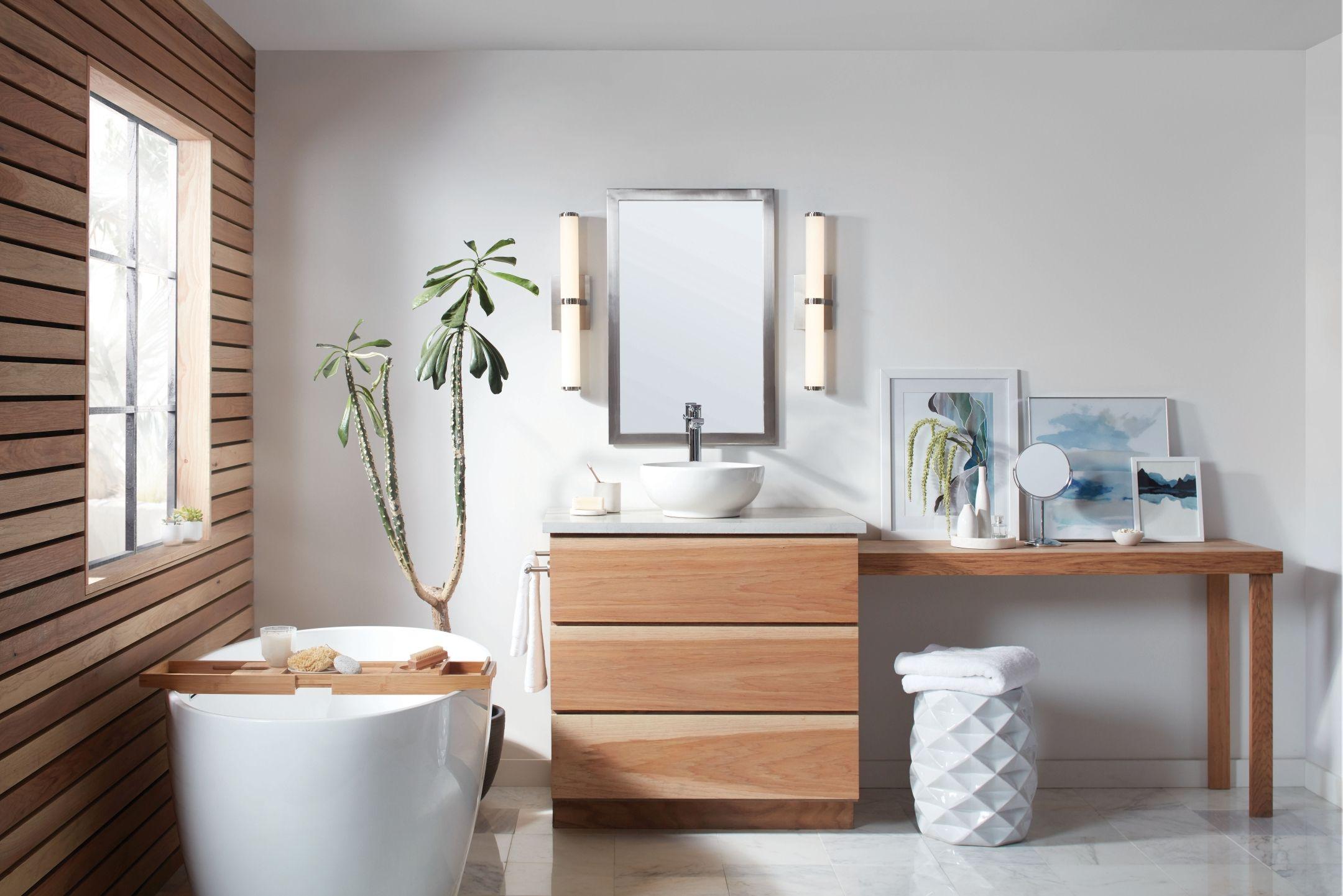 Hinkley Simi Led Bathroom Vanity Light In Brushed Nickel
