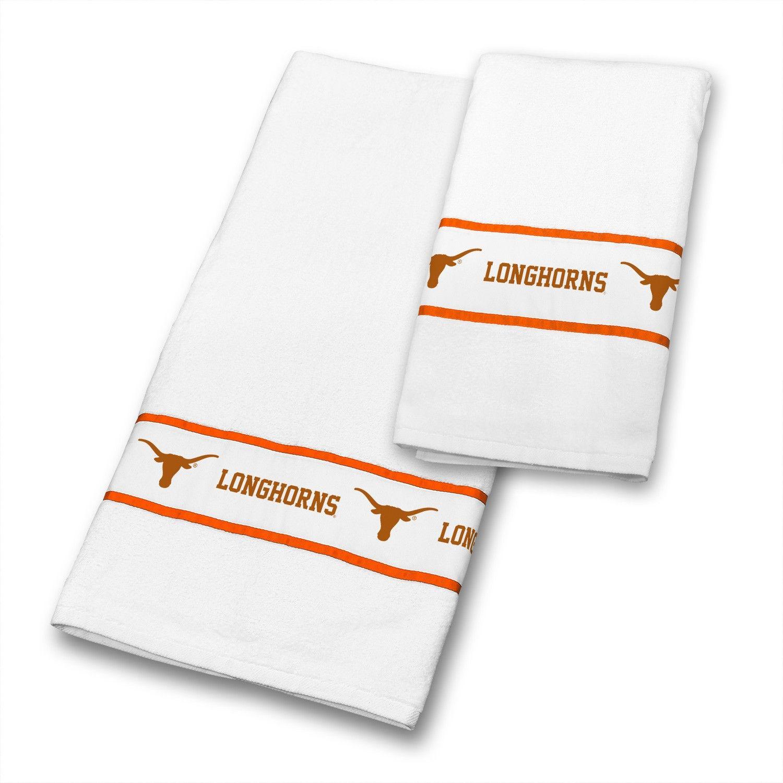texas ut longhorns ncaa bathroom & hand towels set | ncaa - texas