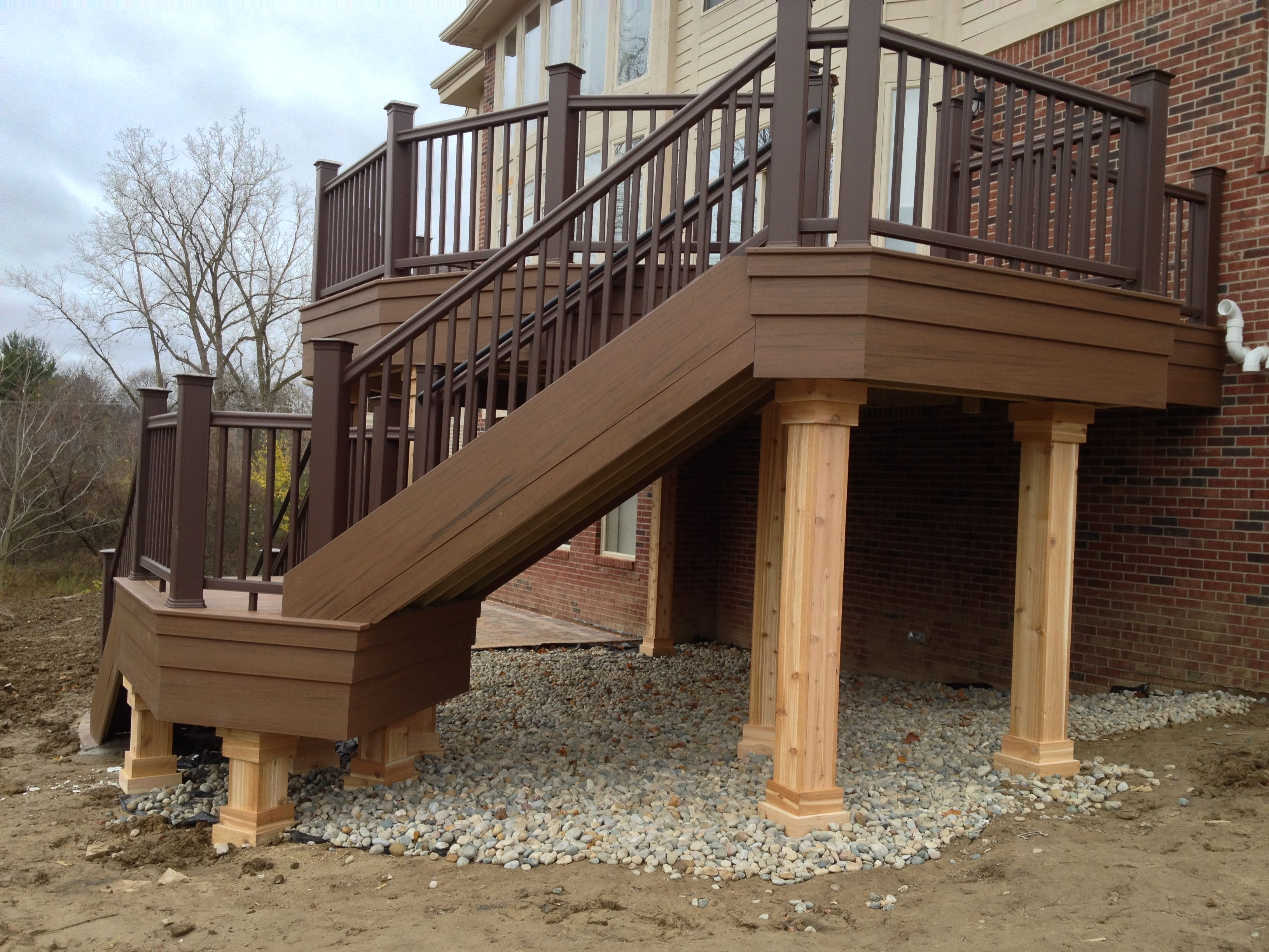 Post Cladding Aluminum : Why great fascia post wrap lazy stair