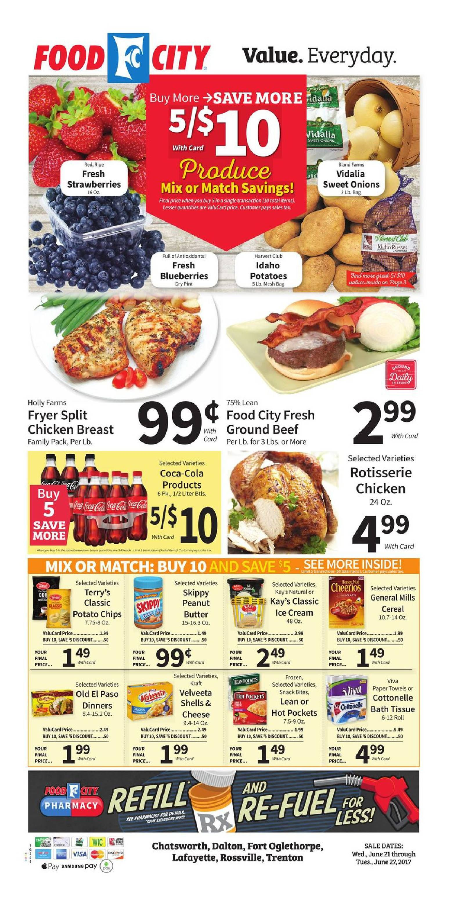 Food City Weekly Ad June 21 27 2017 Do You Know Whats In And