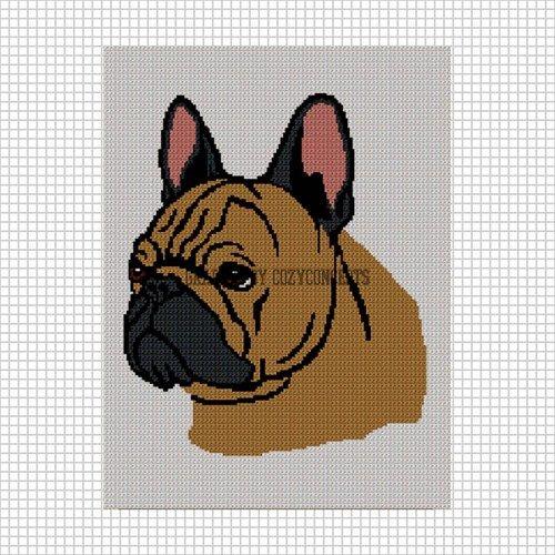 Crochet Pattern//Patterns FRENCH BULLDOG GRAPH PATTERN