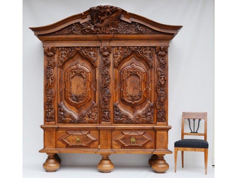 Lübecker Schapp \/ Barock Hallenschrank, um 1700 - Antike Möbel und - barock mobel prachtvoll