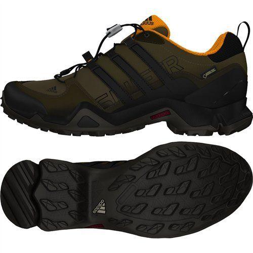 adidas outdoor Men's Terrex Swift R GTX Branch/Black/Umber Hiking Shoes - 11