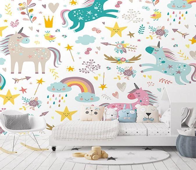 Customize Wall Mural Removable Wallpaper Self Adhesive Wallpaper Girls Room Wallpaper