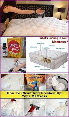 How To Clean Mattress With Baking Soda Mattress Cleaning Cleaning Hacks House Cleaning Tips