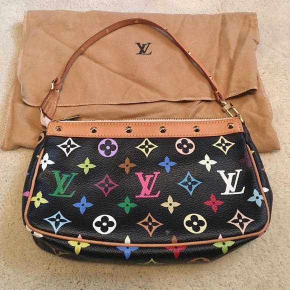 d27916708803 Authentic Louis Vuitton multicolor pochette 100% authentic LV pochette with dust  bag. Only carried a few times