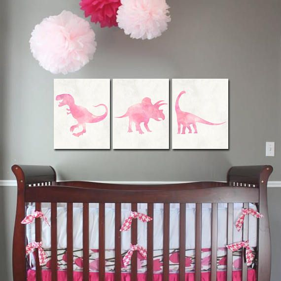 Items similar to Dinosaur Nursery - Girl Dinosaur Art - Pink Dinosaur - Baby Girl Nursery - Baby Girl Dinosaur - Dinosaur Baby Shower - Playroom Art - Dino on Etsy