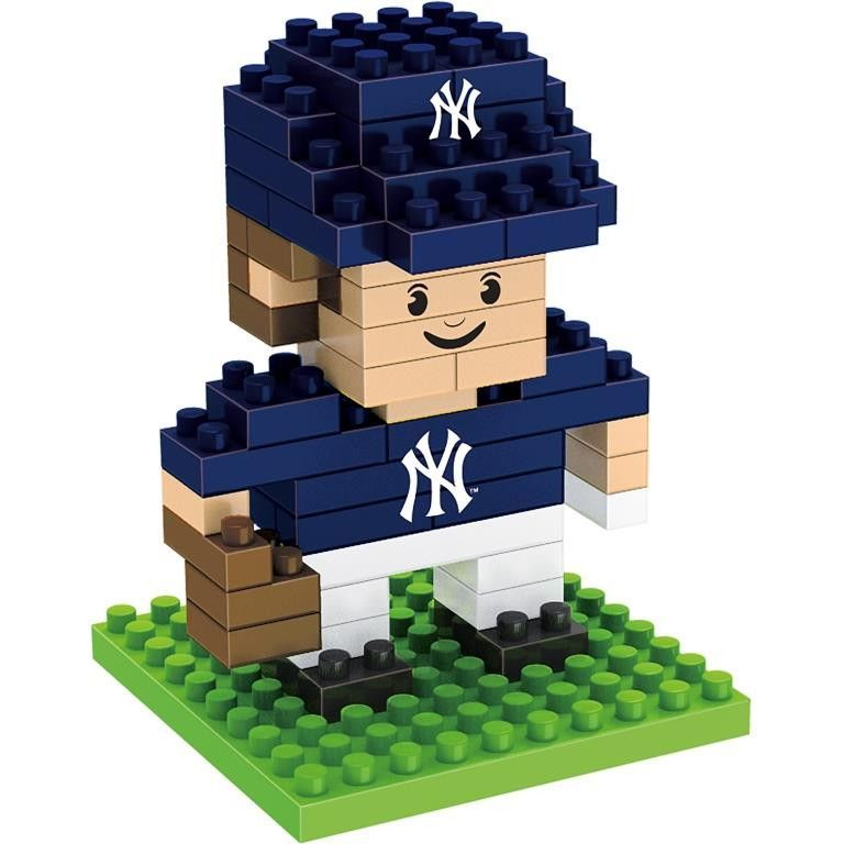 New York Yankees MLB 3D BRXLZ Construction Puzzle Set Team Player - *PREORDER Ships In March*
