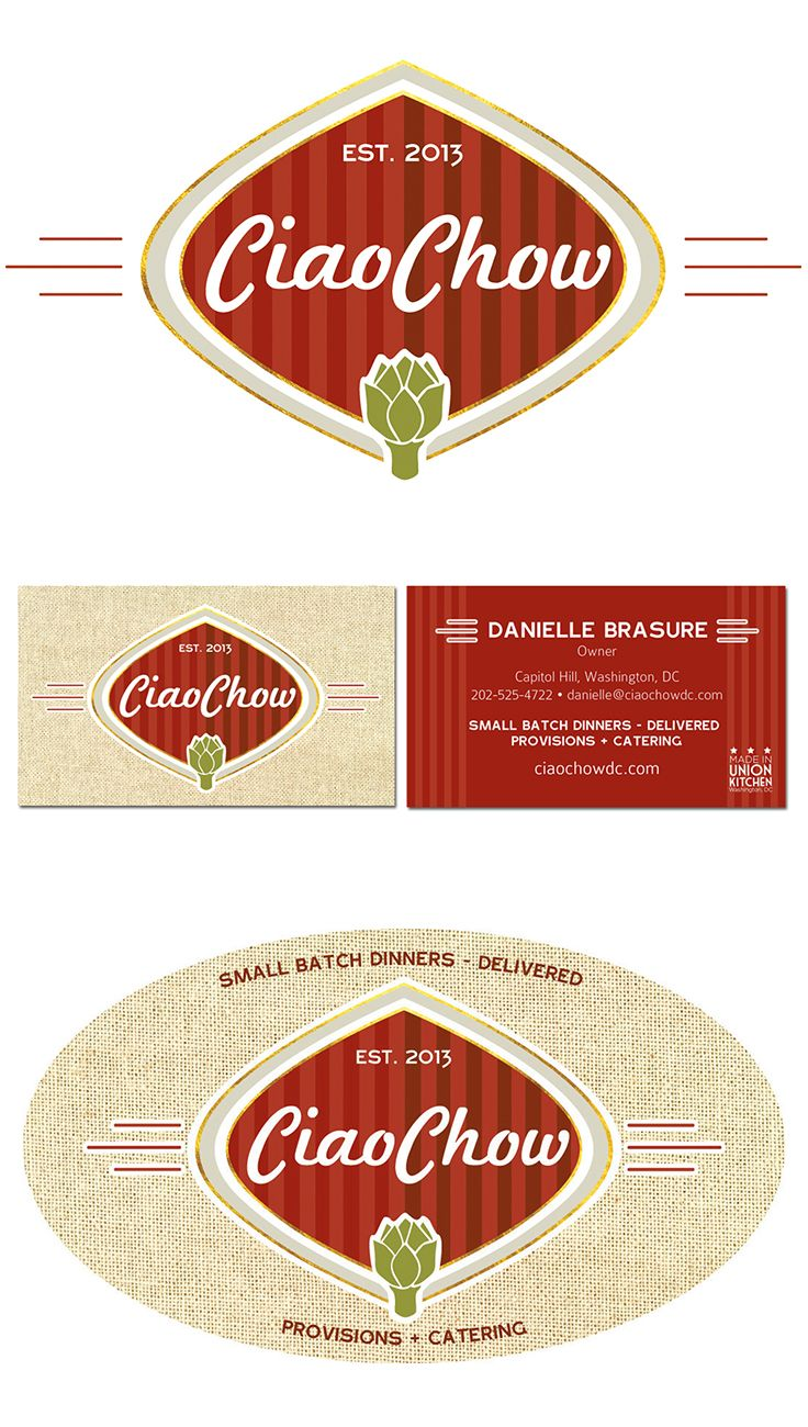 CiaoChow Branding, Logo, Business Card, Sticker, Food Delivery ...