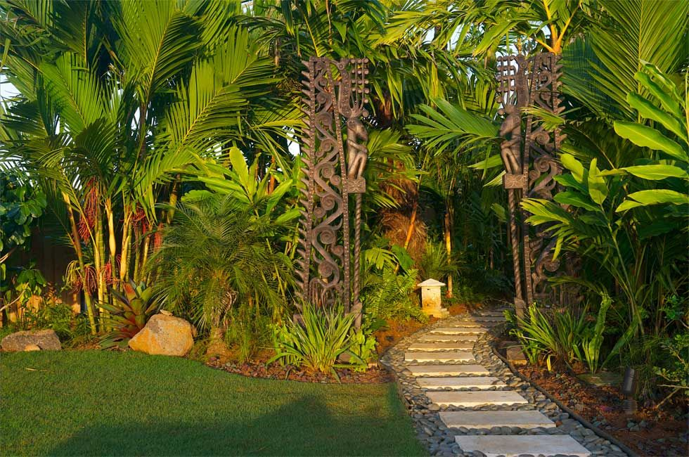 Balinese garden ideas whinter easy to ideas for for Tropical landscape