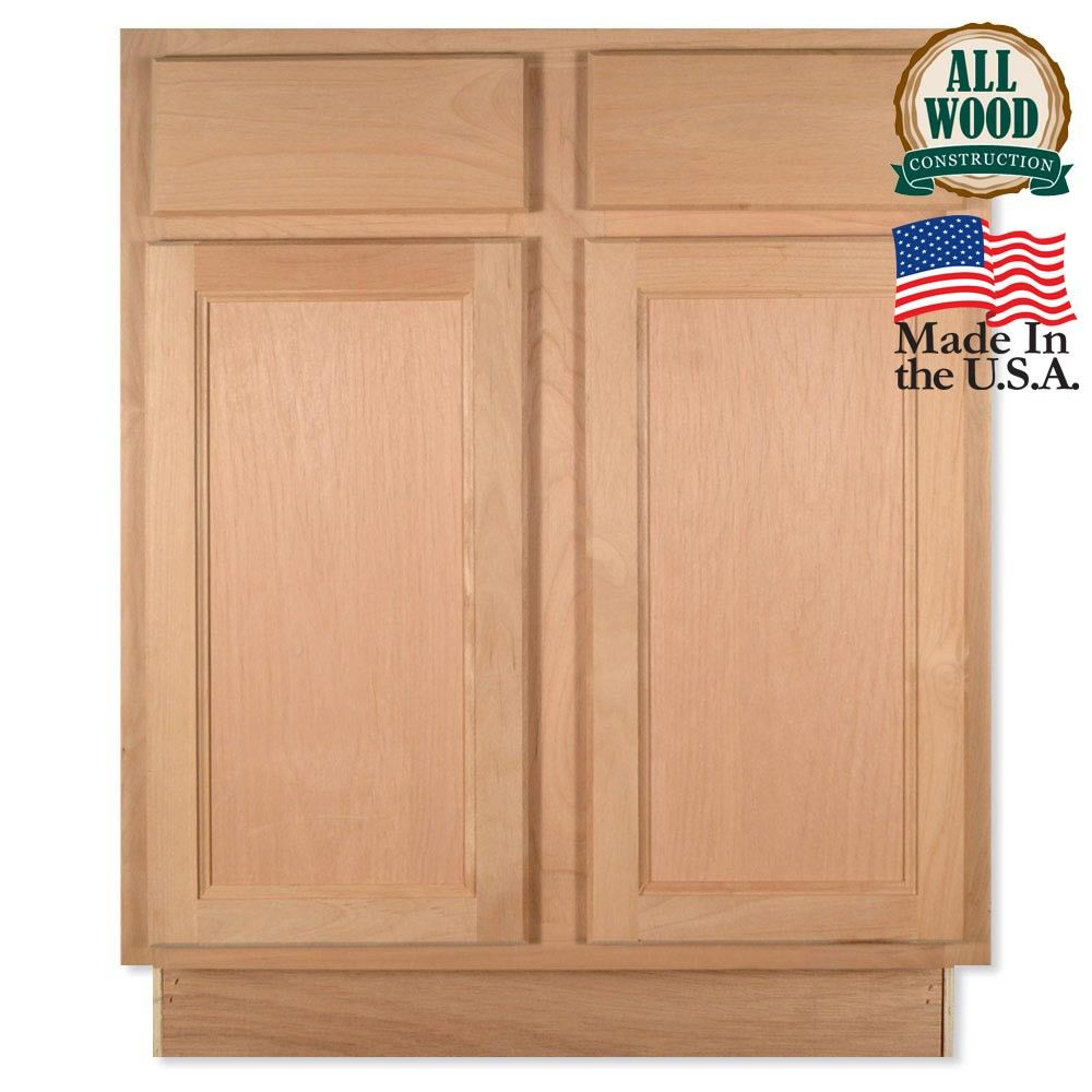 Base Quot Unfinished Alder Kitchen Cabinet Cabinets