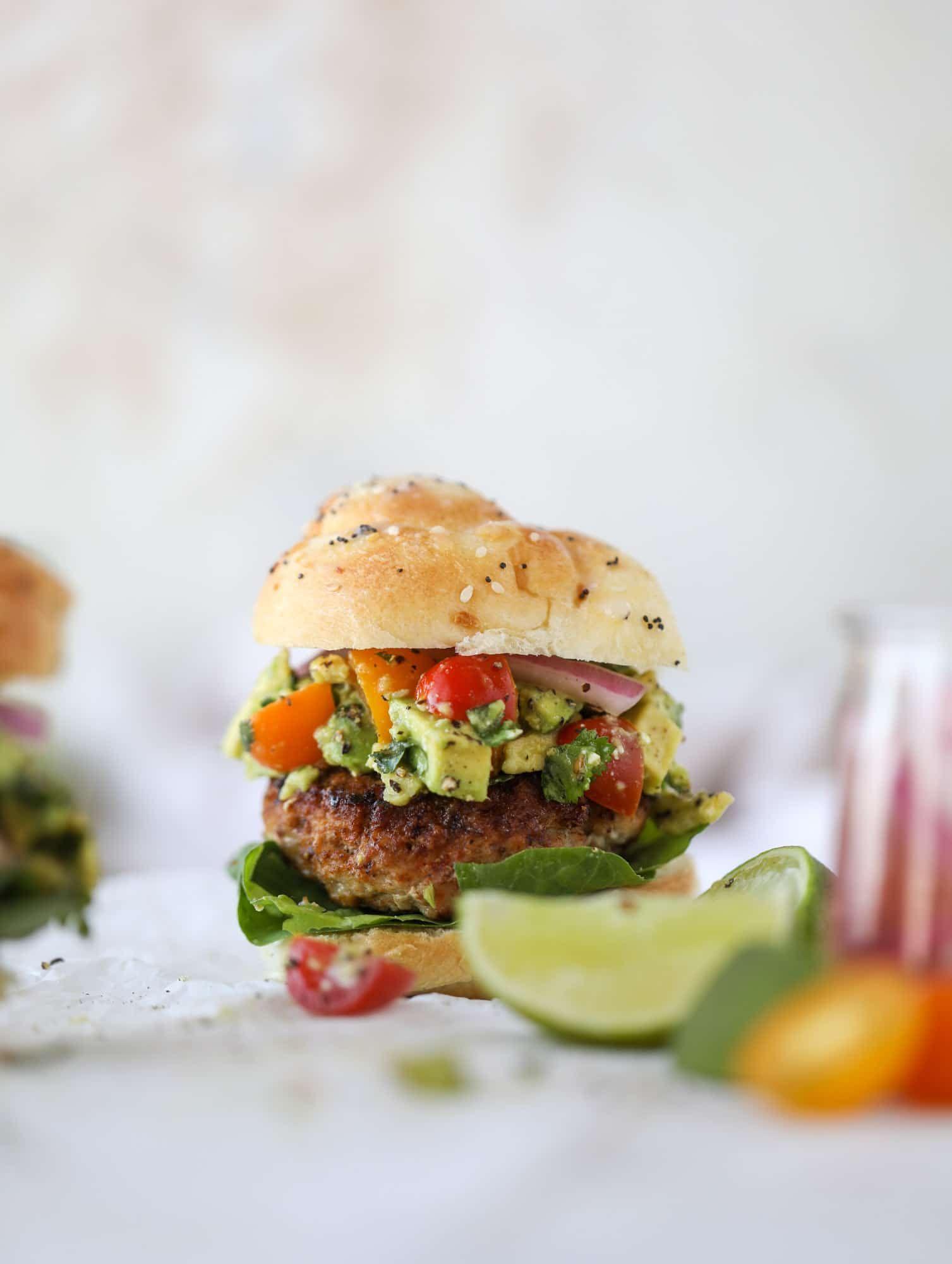 Turkey Burgers - Guacamole Turkey Burgers Recipe