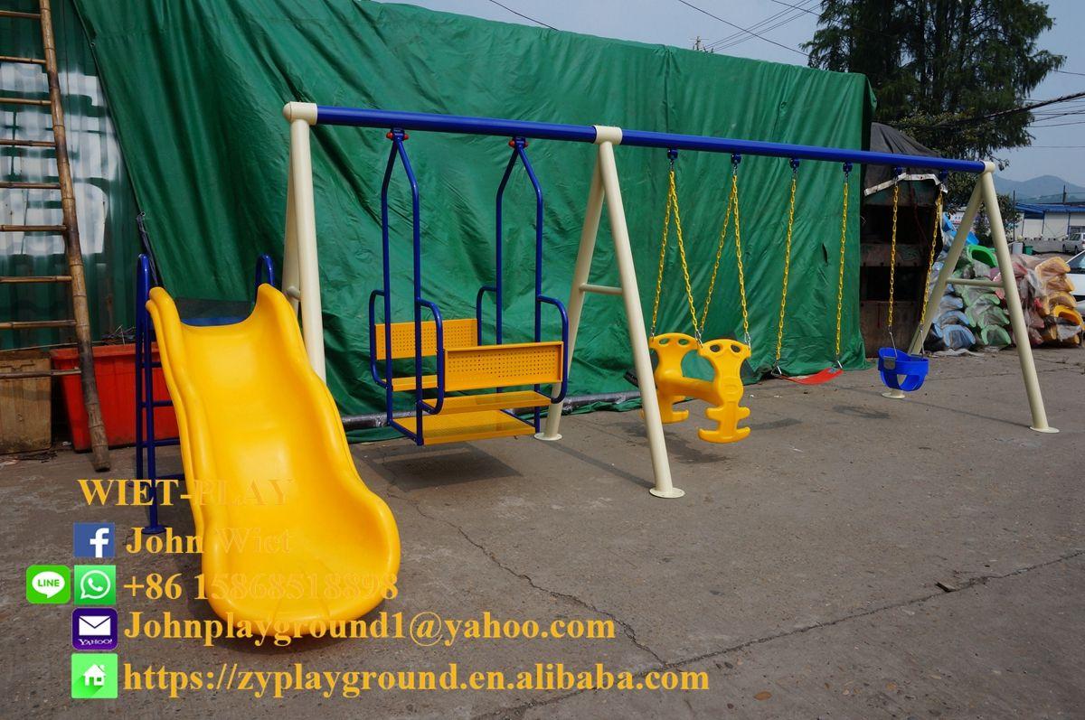 Outdoor Seesaw Play Equipment Playground Indoor Plastic Slide Trampoline Park