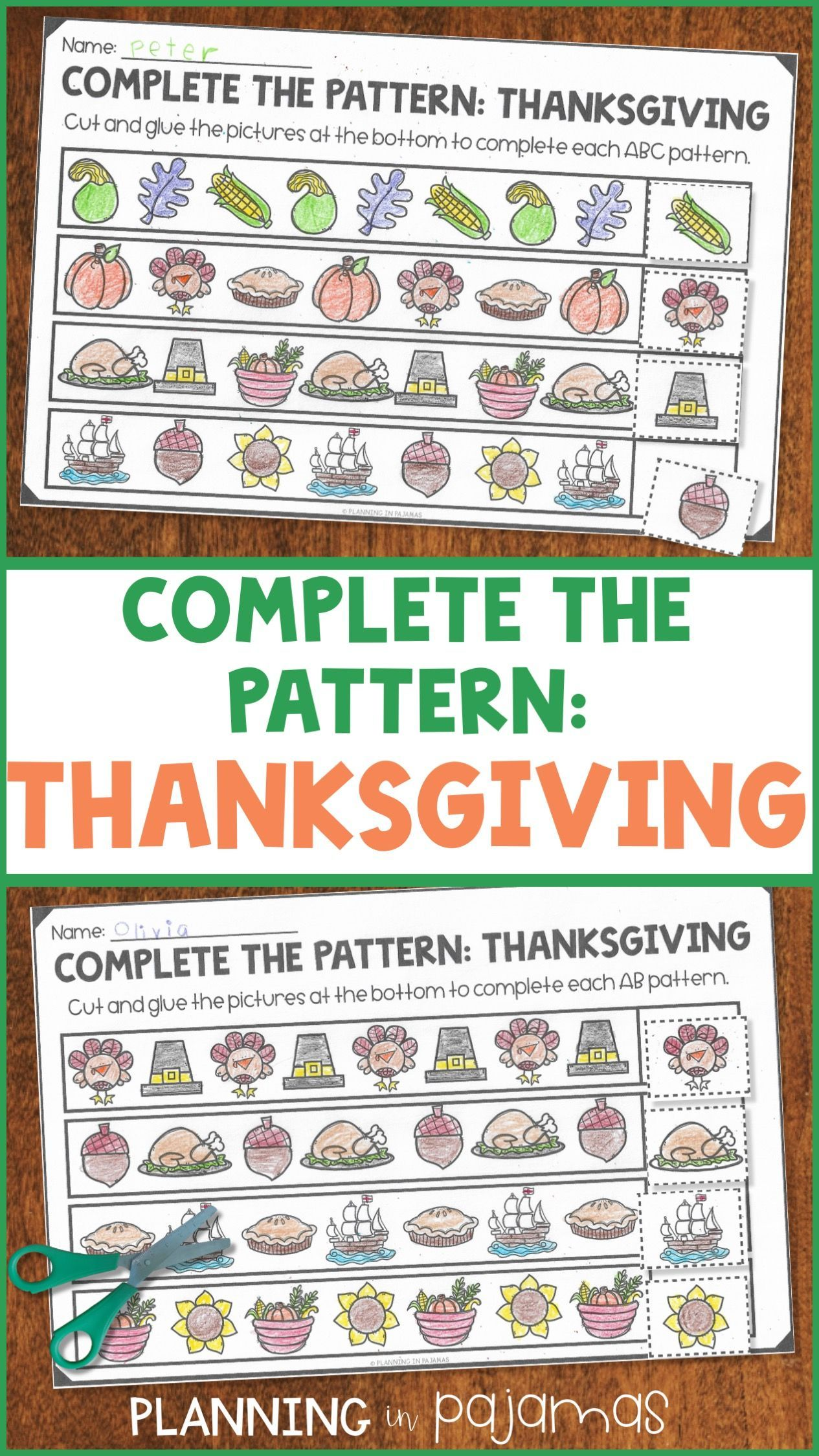 Pin On Thanksgiving In Kindergarten