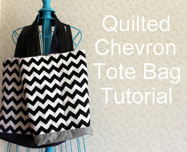 Quilted Chevron Tote Bag tutorial by maureencracknell, via Flickr ...