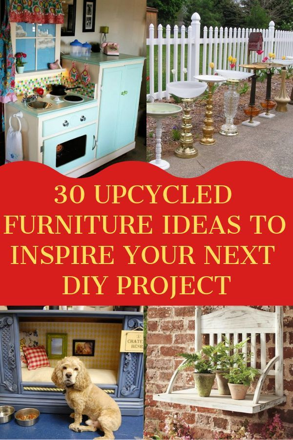 30 Upcycled Furniture Ideas To Inspire Your Next DIY Project #gartenupcycling