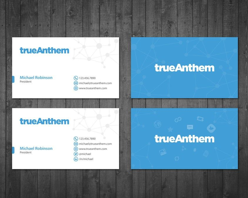 Business cards for innovative tech startup by Tcmenk | Business ...