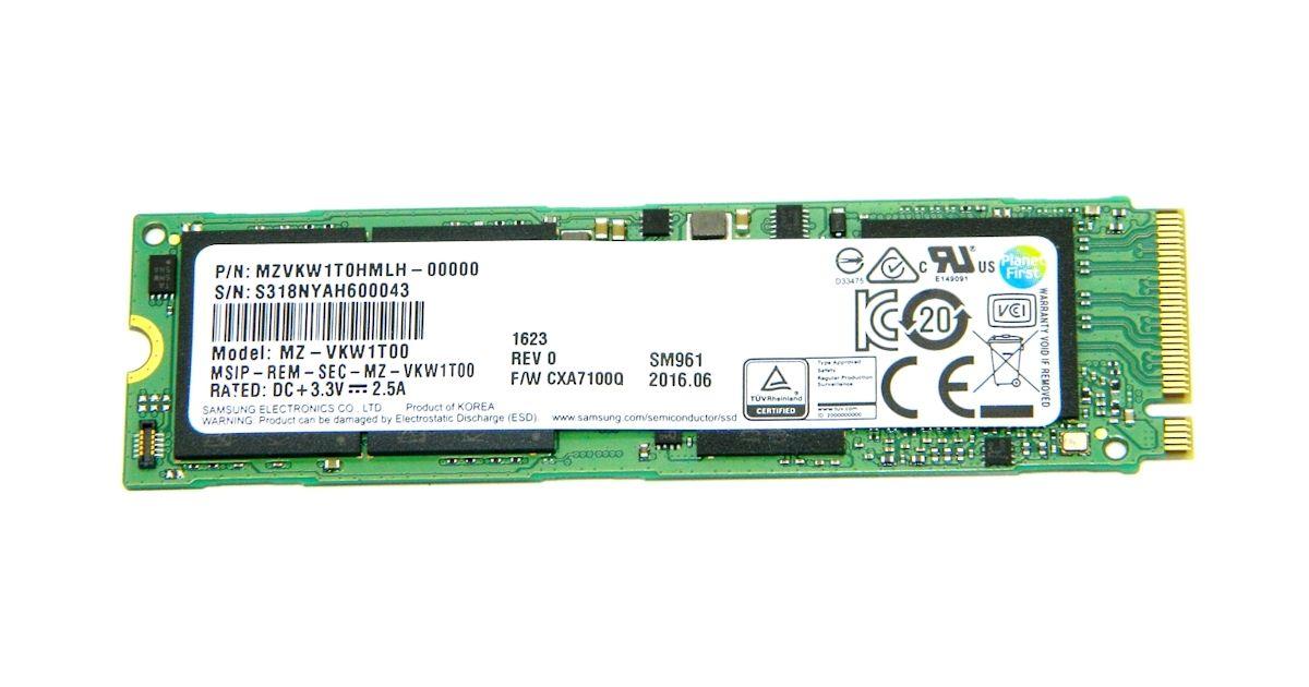 Samsung Sm961 1tb M 2 Nvme Pcie Ssd Review Ssd Samsung Data Storage