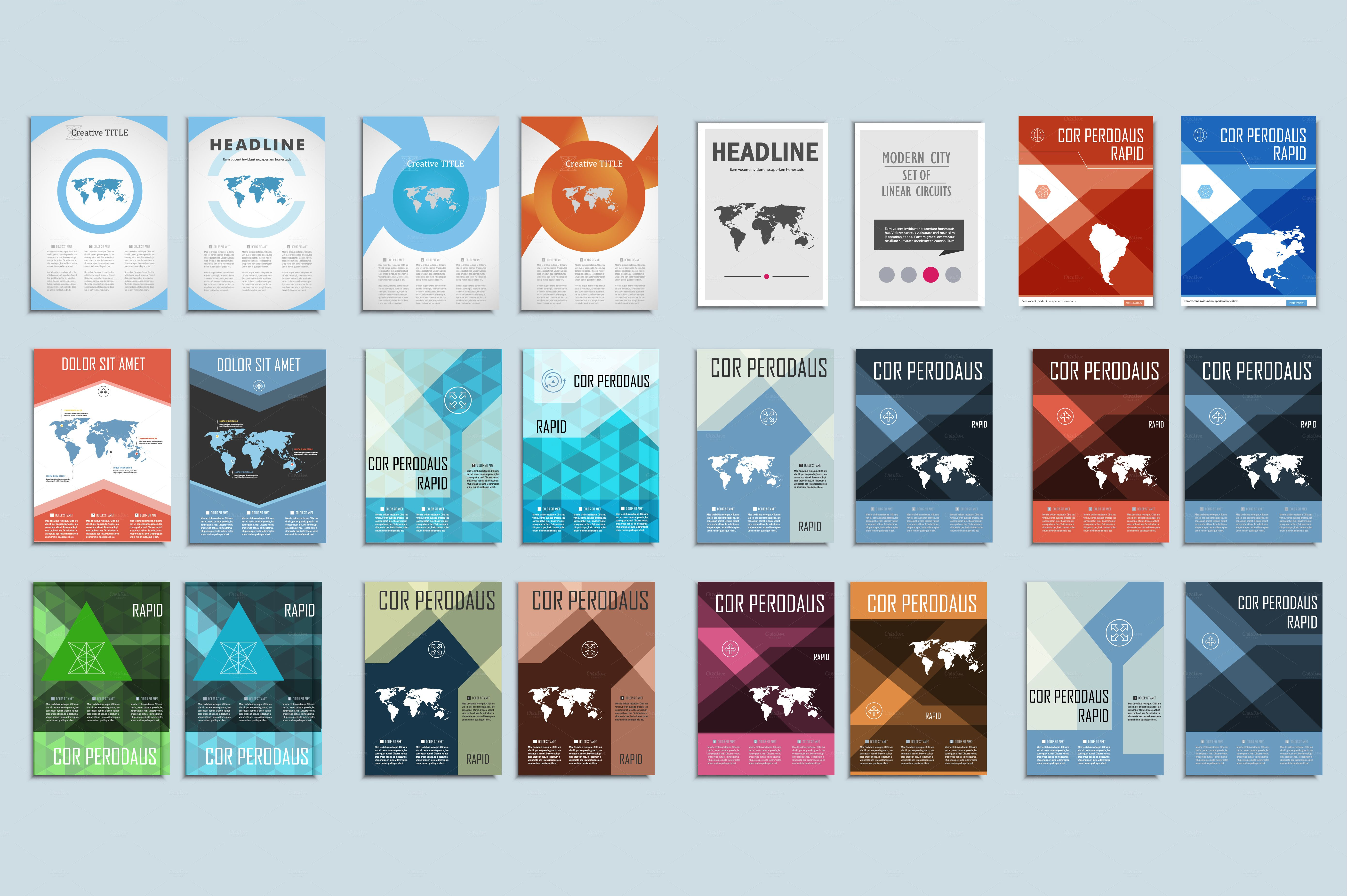 Vector Bundle Brochures Template By Haisonok All Easily Changed